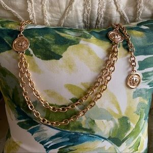 Vintage lion chain belt